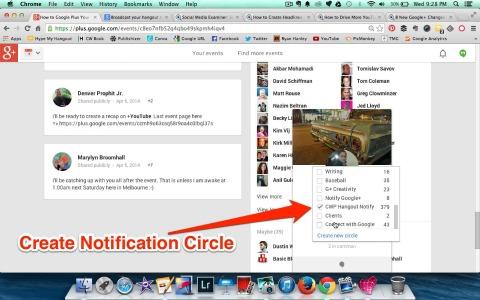 notification circle