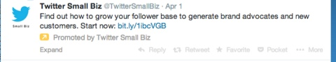twittersmallbiz promoted account tweet