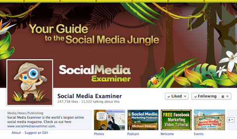 social media examiner facebook page