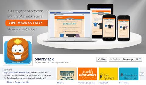 shortstack facebook page
