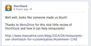 shortstack profile image in facebook update