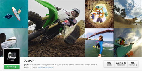 gopro instagram profile