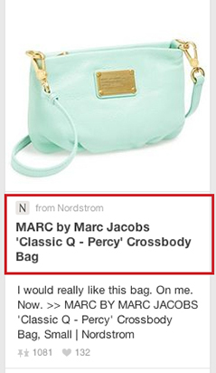 nordstrom rich pin of mark jacobs purse
