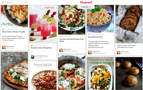 cluttered pinterest board