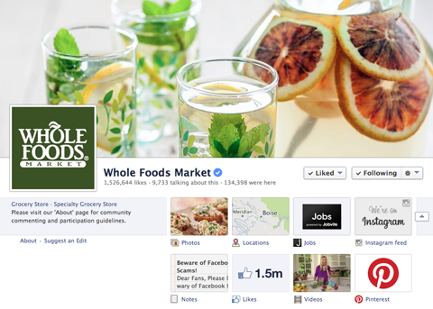 whole foods facebook pinterest tab