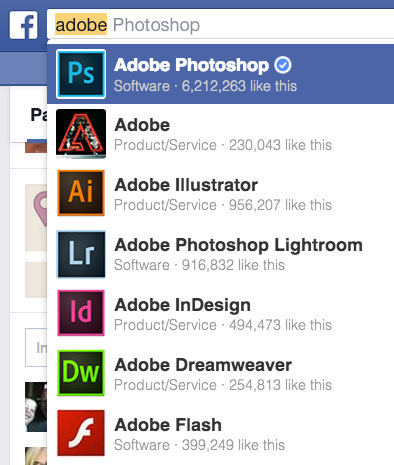 adobe facebook properties
