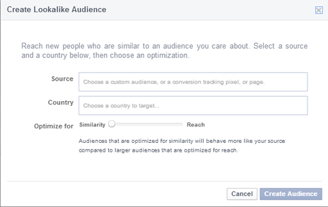 creating a lookalike audience
