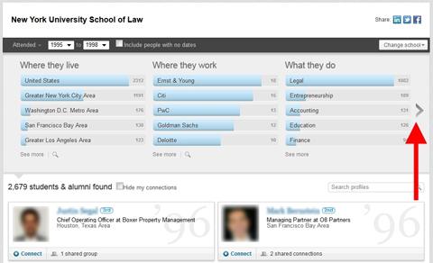 linkedin alumni results