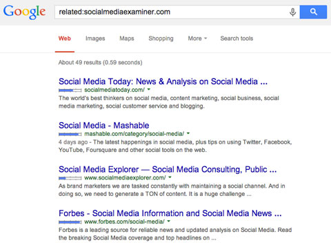 social media examiner competitor search