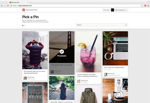 Pinterest allows you to select the image and keywords for your Promoted Pins campaigns.