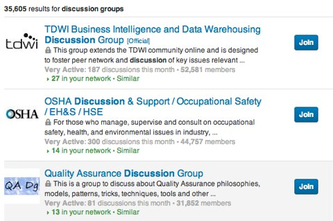 no self promotion in linkedin discussion groups
