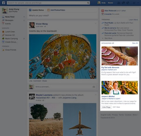 redesign look of facebook ads