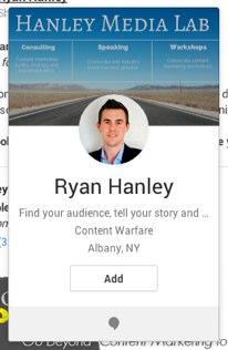 ryan hanley google plus hovercard