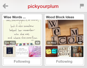 pick your plum pinterest boards