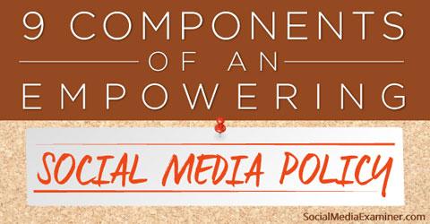 write a social media policy