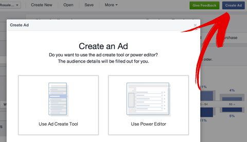 create a facebook ad popup