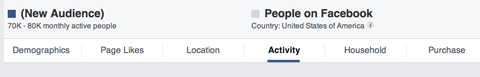 facebook audience insights tabs