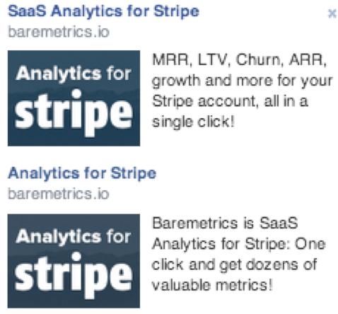 baremetrics ad comparison