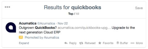 acumatica promoted tweet