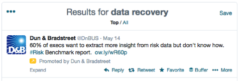 dun & bradstreet promoted tweet