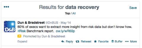 dun & bradstreet promoted tweet
