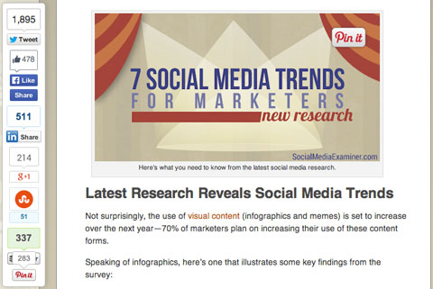 social share bar on social media examiner