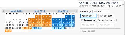 google analytics date range menu
