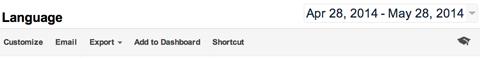 google analytics report menu options
