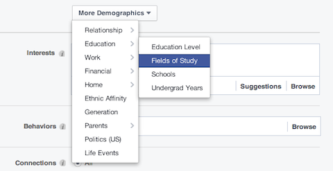 facebook interest subsets