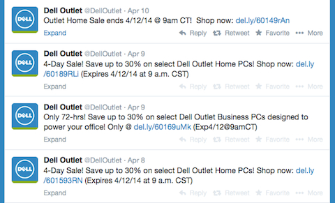 dell outlet twitter stream