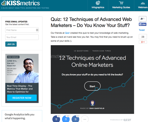 kissmetrics quiz