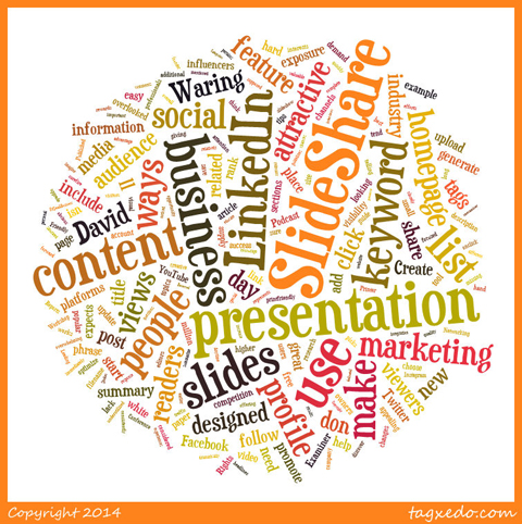 tagxedo word cloud from social media examiner post