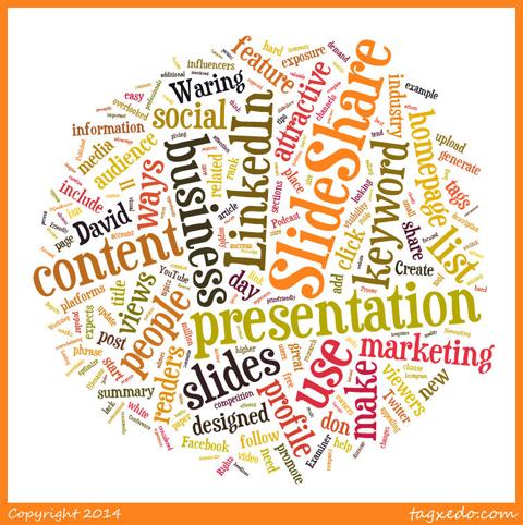 tagxedo word cloud from social media examiner post