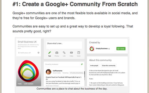 social media examiner martin shervington google plus article