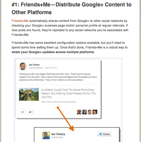 social media examiner ian cleary google plus article
