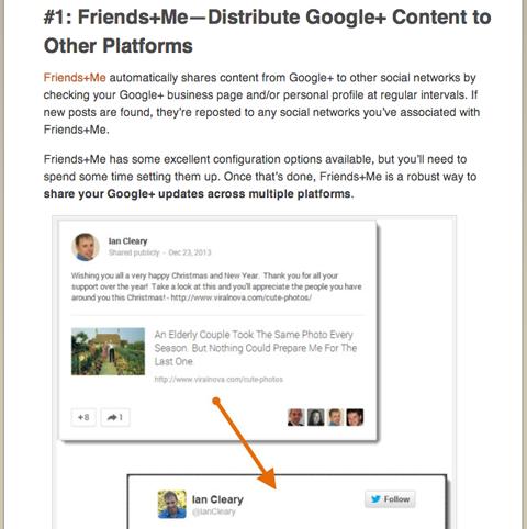 social media examiner ian cleary google plus article