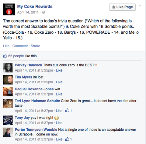 coca-cola question post