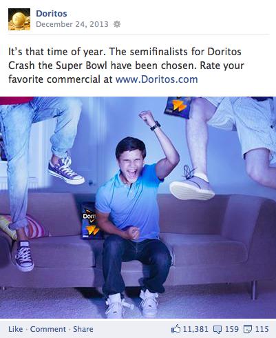 doritos facebook post