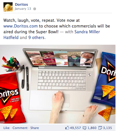 doritos facebook contest entry