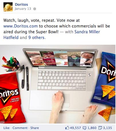 doritos facebook contest entry