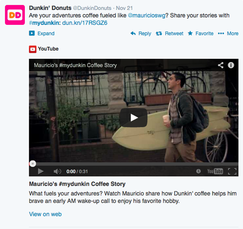 dunkin donuts #mydunkin video post