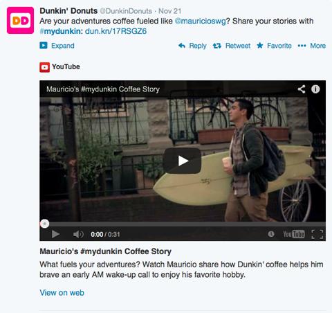 dunkin donuts #mydunkin video post
