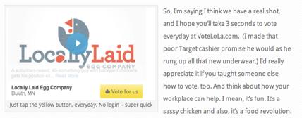 intuit contest vote button