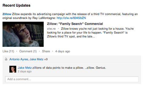 zillow update on linkedin
