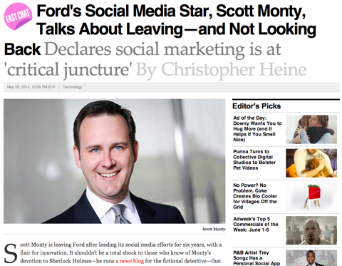 adweek interview with scott monty