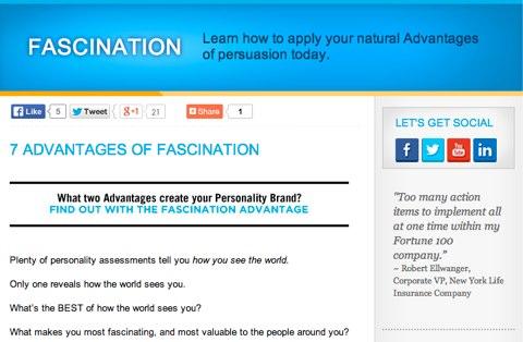 fascination test