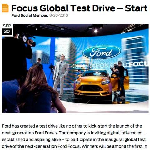 focus global test drive