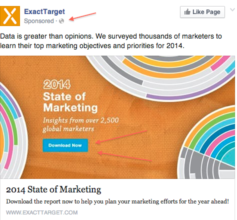 exact target promoted post