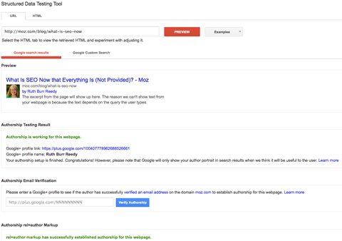 event search result with rich snippet