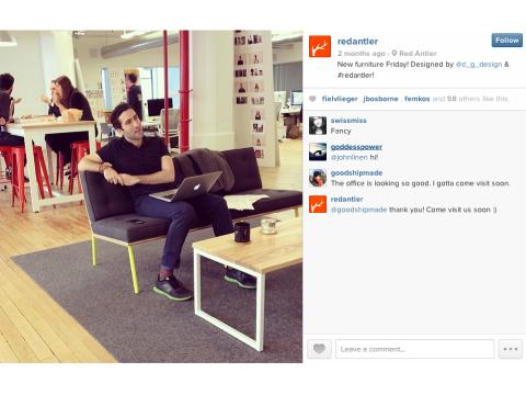 red antler on instagram